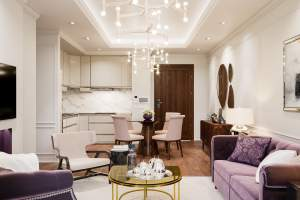 Phối cảnh nội thất căn hộ A5 dự án chung cư HDI Tower 55 Lê Đại Hành