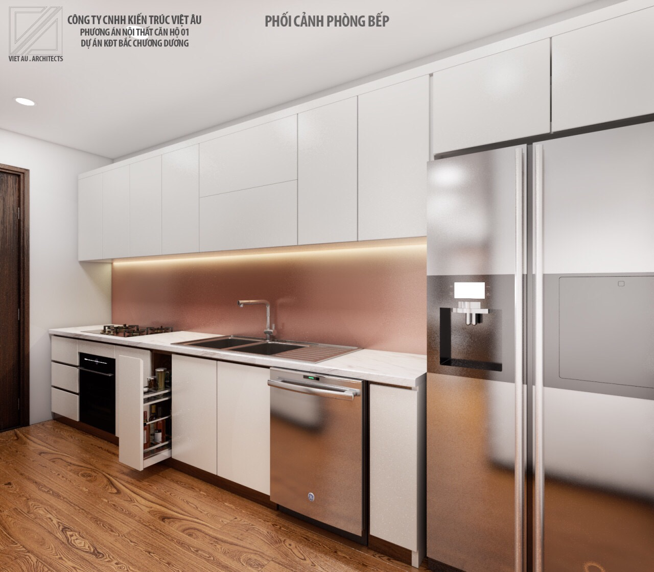 Phương án nội thất phòng bếp 2