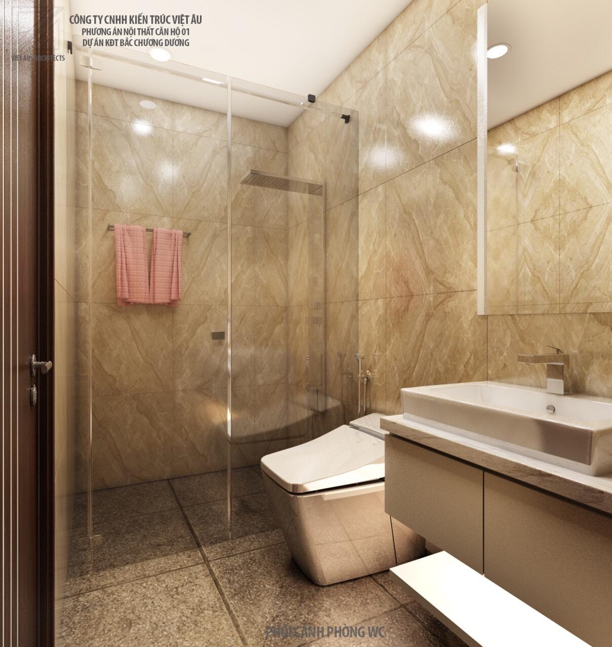 Phương án nội thất phòng vệ sinh nhỏ 1