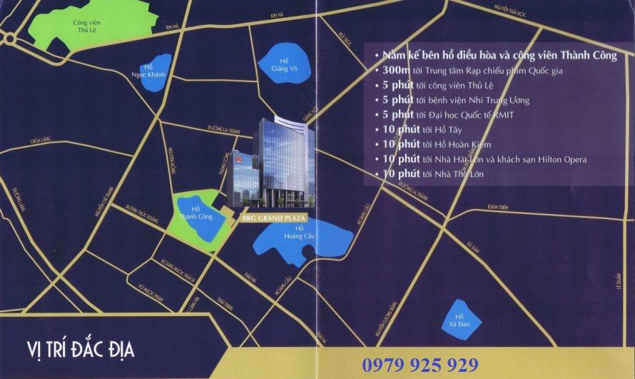 Vị trí chung cư BRG Grand Plaza 16 Láng Hạ