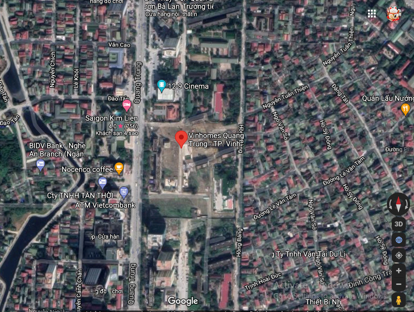 vị trí Vincom shophouse Vinh